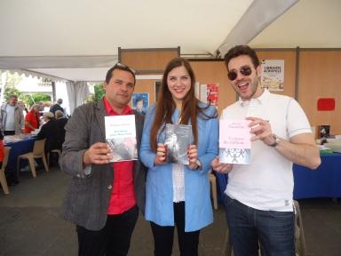 William Navarrete (ed. Stock), Margaux Guyon (ed. Plon) et Thomas Rabino (ed. Perrin), Festival du Livre de Nice 2013.