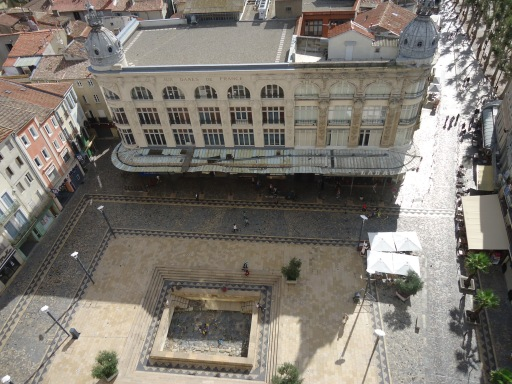 La plaza del Ayuntamiento desde un torreon del Palacio Arzobispal